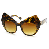 High Pointed Tortoise Cat Eye Sunglasses