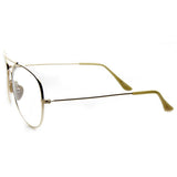 Classic Clear Gold Aviator Oversized Glasses