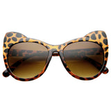 High Pointed Ear Tip Cat Eye Tortoise Sunglasses