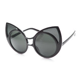 Large Black Bold Cat Eye Sunglasses