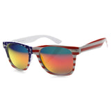 Patriotic U.S Flag Classic Style Sunglasses Orange