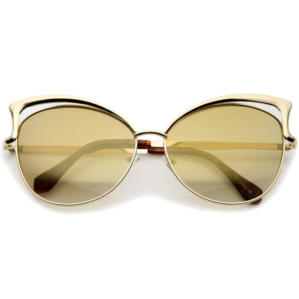 Retro Glam Cat Eye Gold Sunglasses