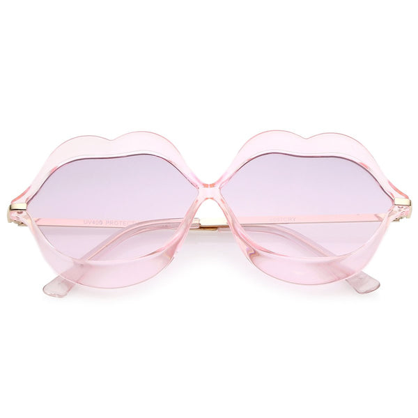 Hot Pink Lips Retro Sunglasses