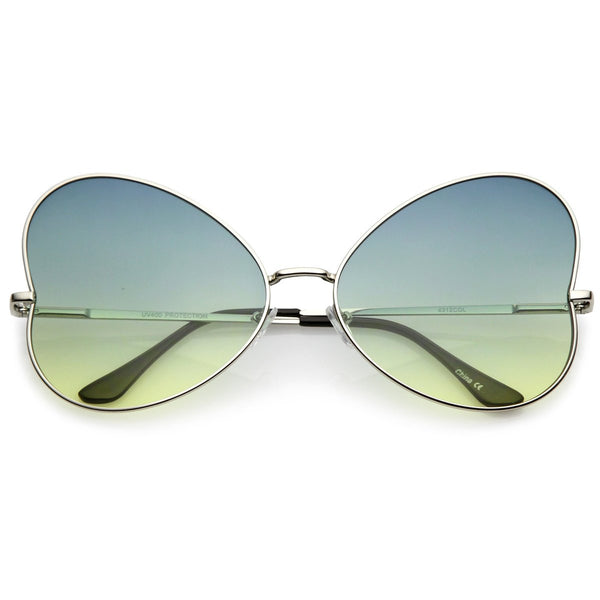 Blue-Yellow Butterfly Shaped Designed Sunnglasses