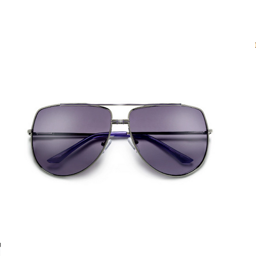 Double Bridge Oversize Aviator Lilac Sunglasses