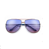 Double Bridge Oversize Aviator Blue-Pink Sunglasses