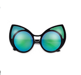 Large Midnight Blue Bold Cat Eye Sunglasses