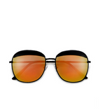 Elegant Retro Round Orange Sunglasses