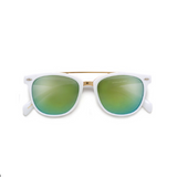 Modern Metal Stylish White Sun Burst Sunglasses
