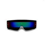Futuristic Tron Shield Black Party Shades