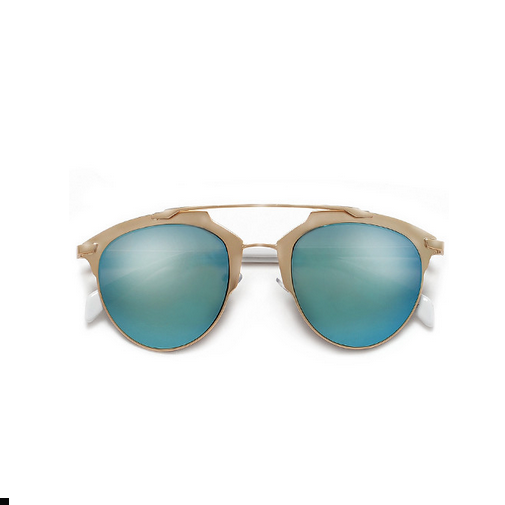 Nickel Finish Frame Super Chic Ice Blue Sunglasses