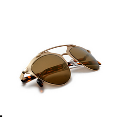 Nickel Finish Frame Super Chic Bronze Sunglasses