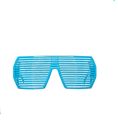 Kanye Hip Hop Ultimate Blue Party Shades