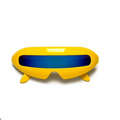 Futuristic Cyclops Yellow Party Sunglasses