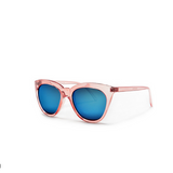 Cat Eye Classic Taupe Clear Frame Retro Magenta Sunglasses
