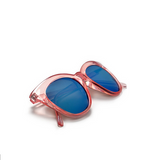 Cat Eye Classic Taupe Frame Ice Blue Retro Sunglasses