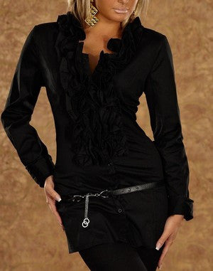 WOMAN BLOUSE FRANCE BLACK