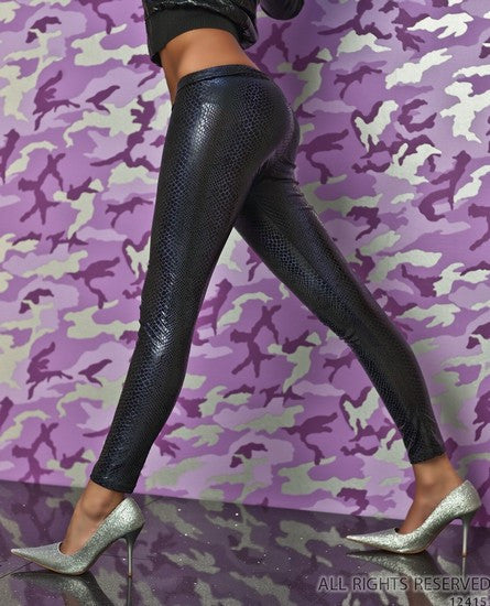 WOMAN LEGGINS SNAKE VIOLET