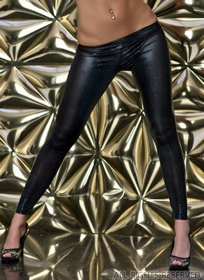WOMAN LEGGINS SHINE GREY