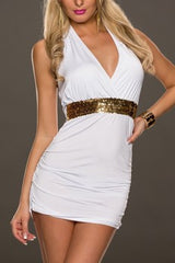 Stunning Greek Style White Mini Dress