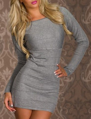 woman mini dress kelly grey