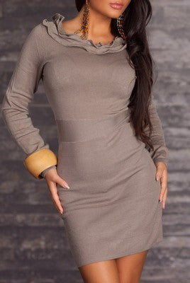 WOMAN MINI DRESS LINDA COFFE