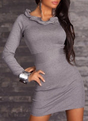 woman mini dress linda grey
