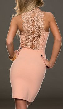 Gorgeous Back Laced Losos Sleeveles Mini Dress