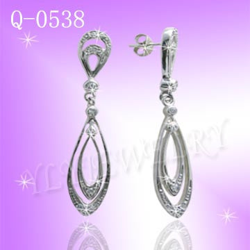 925 Sterling Silver CZ Reign Earrings Q0538