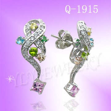 925 Sterling Silver CZ Stud Earrings Q1915