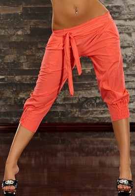 WOMAN PANTS CAPRI ORANGE
