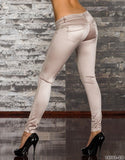 WOMAN PANTS SKINNY CREAM