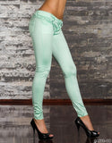 WOMAN PANTS SKINNY MINT