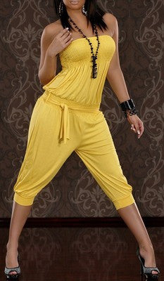 WOMAN JUMPSUIT BETTY YELLOW