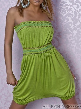 WOMAN LOOSE GREEN JUMPSUIT CAPRI