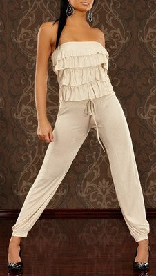 WOMAN JUMPSUIT GABRIEL SAND