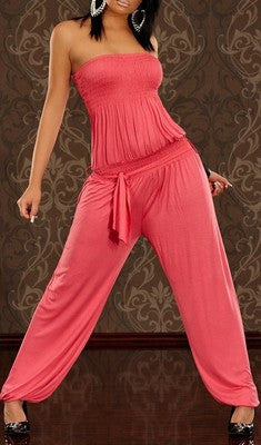COMFORTABLE LOOSE CORAL JUMPSUIT JENIFER
