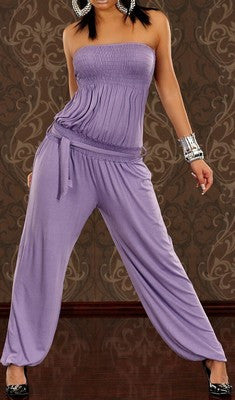 COMFORTABLE LOOSE VIOLET JUMPSUIT JENIFER