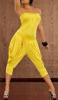 WOMAN HAREM JUMPSUIT LARA YELLOW