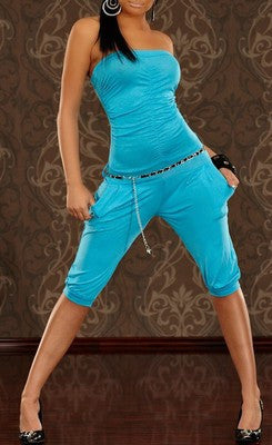 WOMAN JUMPSUIT SIMPLY TURQUOISE