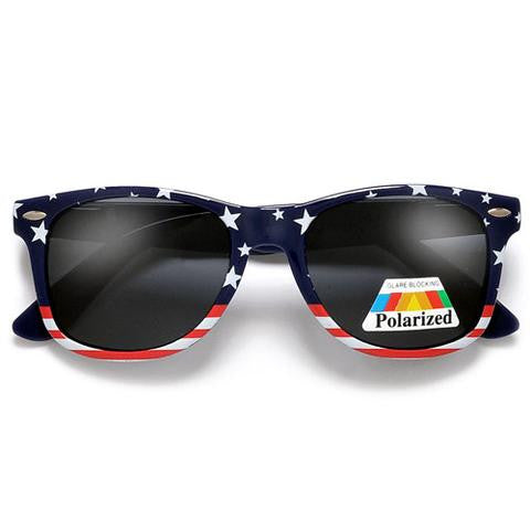 Polarized American Flag Navy Patriotic Sunglasses