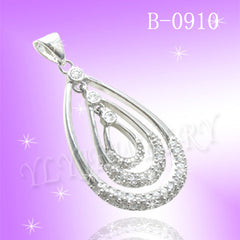 925 Sterling Silver CZ Reign Pendant B 0910