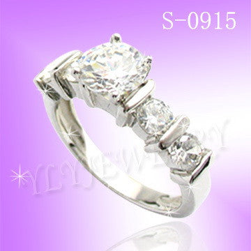 925 Sterling Silver CZ Proposal Ring S 0915