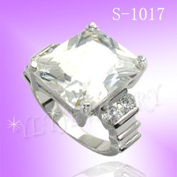 925 Sterling Silver CZ U Special Ring S 1017