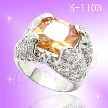 925 Sterling Silver CZ Be Mine Ring S 1103