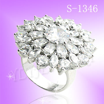 925 Sterling Silver CZ Say Yes Ring S 1346