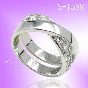 925 Sterling Silver CZ Eternity Ring S 1588