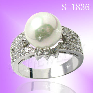 925 Sterling Silver CZ Darling Ring S 1836
