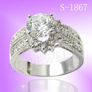 925 Sterling Silver CZ I Do Ring S 1867