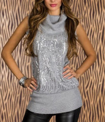 woman pullover warmy grey